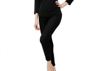 LS008 Black Stretch Pants