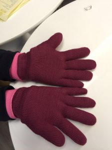 customised gloves from scarf